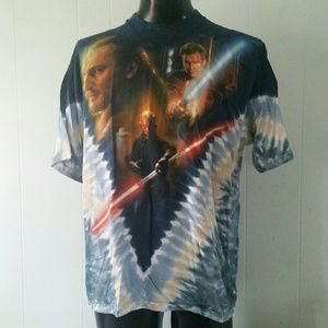 Rare Tie Dye Star Wars Tshirt Dart Maul Battle XL